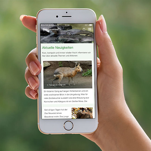 Zoo Neuwied Referenz - Mobile App